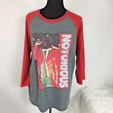 Notorius BIG T-Shirt Baseball Tee Red Gray Brooklyn Mint 1995 NYC Shirt sz M