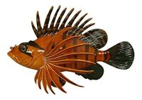 Tropical Lion Fish Antiqued Finish Brown Ocean Nursery Kid Wall 6 inch TFW35H
