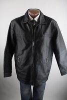Tom Tailor schwarze Herren-Lederjacke mit Reißverschluss Gr.004 Top Zustand
