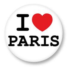 Magnet Aimant Frigo Ø38mm ♥ I Love You j'aime Paris Île de France 75 Tour eiffel