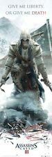 ASSASSIN'S CREED III  ~ GIVE ME LIBERTY DOOR 21x62 Video Game POSTER 3 Connor