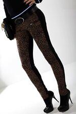 Italy LOUISA FERRERA Animal Print Jeggings Skim Skinny Treggins Stretch Pants L