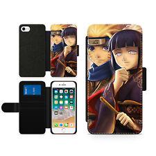 Anime Naruto And Hinata Family Hard Wallet Flip Phone Case Cover