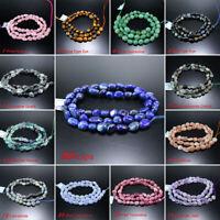 "5x8mm High Quality Natural Gemstone Freeform Loose Beads For DIY Bracelet 15.5"""