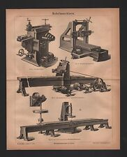 Lithografie 1876: Hobelmaschinen. Feilmaschine Holz Eisen Maschinen