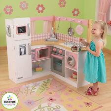 Kidkraft Kinderküche Grand Gourmet Corner Kitchen 53185 Weiß Rosa Holz