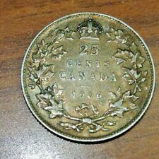 1906 Canada 25 Cents Silver Quarter VF+ ORIGINAL