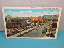 Vintage Grand Junction Colorado Main Street Looking East Postcard Grand Mesa +
