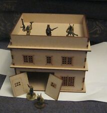 28mm 2 storey Eastern Europe or Sci Fi Factory Building Scenery 3mm MDF