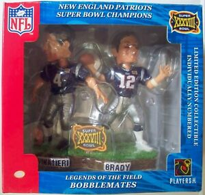 Patriots Tom Brady and Adam Vinatieri duel Bobblehead