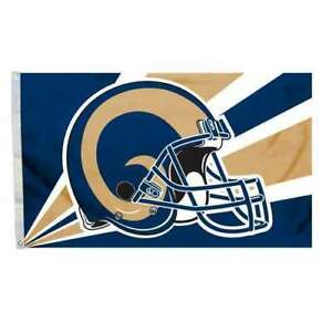 L.A. LOS ANGELES RAMS NFL Football HELMET FLAG OFFICIALLY LICENSED RETAIL $49.95
