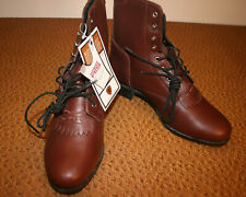 ARIAT COMPETITOR WOMEN'S PADDOCK OR ROPER LACE-UP BOOTS, 8.5 NEW WITH TAGS