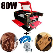 80W CO2 Laser Gravur Schneidemaschine Graveur Cutter Holz arbeiten/Handwerk