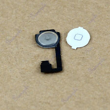 New White Replacement Home Button Key With Repair Part Flex Cable For iphone 4G