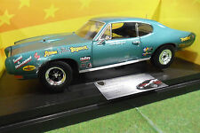 PONTIAC GTO BOSSMAN turquoise 1/18 AMERICAN MUSCLE ERTL 36676 voiture miniature