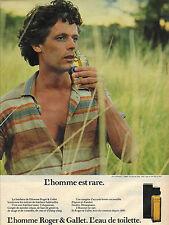 PUBLICITE  1983   ROGER GALLET  eau de toilette parfums
