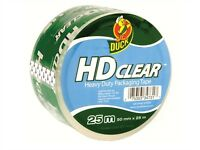 Duck - HD Clear Heavy Duty Packaging Parcel Tape - Crystal Clear 50mm x 25m