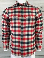 FjallRaven Slim Fit Button Down Shirt Flannel Red Blue White NWT MSRP $110 A0203