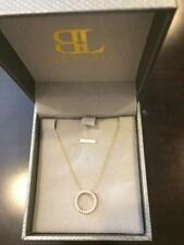 Bony Levy 18K Gold Diamond Open Circle Pendant Necklace