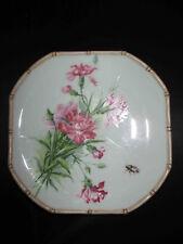 ancienne assiette peinte main Bouquet fleurs Art Nouveau J.B. 1901 début XX ème