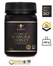 BeeNZ echter originaler authentischer Manuka Honig MGO263 mg/kg UMF™10+ 1000g