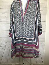 Nwot Beulah Style Womens Sz L Mini/Knee Length Delilah Satin Dress 3/4 Sleeve