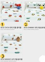 BT21 Official Goods thin Ripple Blanket Covers Bed Sheet BTS TATA Chimmy SHOOKY