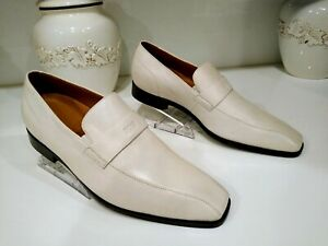 Hugo Boss Rino Authentic Ivory Leather Loafers Men's Size 11 New Without Box