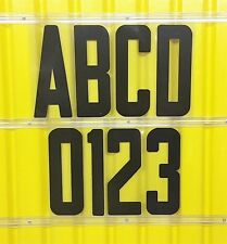 8 Inch Flexible Plastic Outdoor Marquee Sign All Black Letters Black Numbers 300
