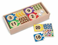Wooden Number Puzzles -Self Correcting By Melissa & Doug