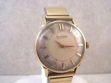 Vintage Wittnauer Automatic Swiss 17 Jewel 11ARG 10K GF & S/S Men's Watch