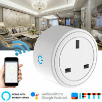 Smart WiFi Plug Outlet Swtich work with Echo Alexa Google Home APP Remote UK PLU