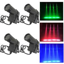 4-Pack 10W RGBW Beam LED Stage Light DMX Pin Spot DJ Disco Effect Lighting Lamp