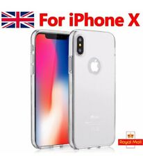 For iphone Case Transparent Crystal Clear Case Gel TPU Soft Cover Skin iPhone X