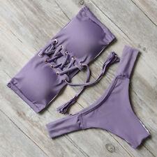 MOOSKINI Women Push-up Padded Bra Bandage Bikini Swimsuit Swimwear Bathing Suit