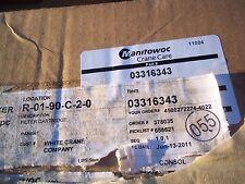 Genuine  Manitowoc Crane    Air  Filter    Part  Number  03316343