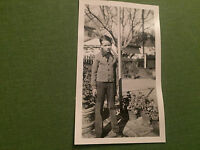 Social History Vintage Fashion Photograph Young Boy In Garden USA 1939