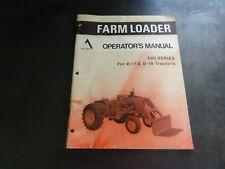 Allis Chalmers 500 Series For D 17 Amp D 19 Tractors Farm Loader Operators Manual