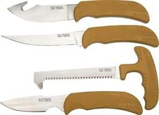 Schrade Old Timer 4pc Fixed Blade Brown Hunting Knife & Saw Kit Set P1085934