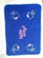 Hello Kitty Baby Blanket Blue Pink Soft Fleece Security Lovey 24x33 Sanrio B297