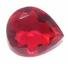 Marvelous Certified Pear Shape 47.00 Ct Lab Created Rubellite Tourmaline Gems