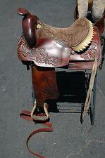 "Hereford Textan Saddle 15"" seat western saddle"
