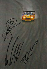 Rees, MacDowall, Stanaway Aston Martin Hand Signed 7x5 Photo 2015 Le Mans 9.