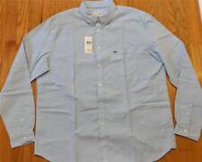 Mens Authentic Lacoste Button Down LS Oxford Woven Shirt Lagoon Blue 44 (XL)