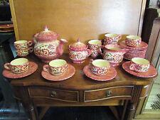 Ancien service à café en FAÏENCE de QUIMPER PAUL FOUILLEN 28 pièces