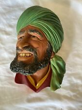 Vintage Bossons Head green Turban Punjabi Rare