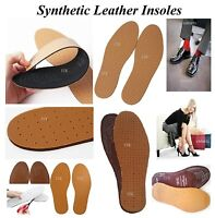 2 PAIRS LEATHER INSOLES CUT TO SIZE ULTRA COMFORTABLE UNISEX SHOE LEATHER INSOLE