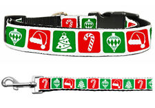 Mirage Timeless Christmas Nylon Cat and Dog Collar and Leash Combo