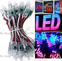 50PC LED 12mm WS2811 LED Pixel Module IP68 Waterproof String Full Color RGB DC5V