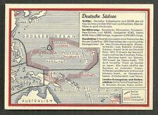 Map postcard German Colonies Micronesia Melanesia 30s stamp